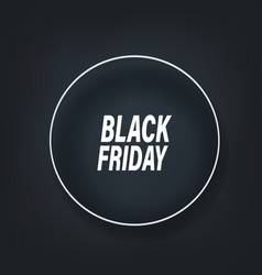 black friday layout banner template template for vector image