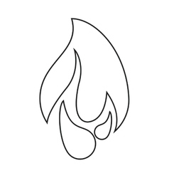 burning fire flame design graphic line vector image