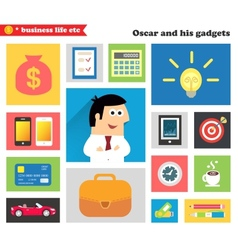 Business gadgets and stuff vector