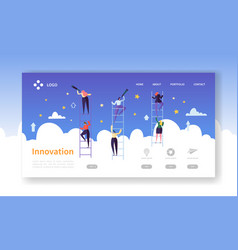 Business innovation landing page business vision vector