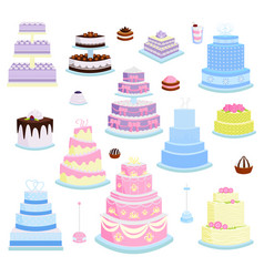 Cake pie cartoon style isolated vector
