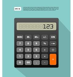 Calculator image vector image