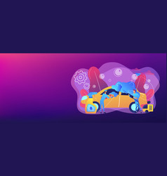 car wash service concept banner header vector image