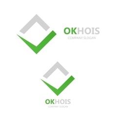 Check mark logo vector