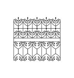 Classic Curled Lattice Fencing Design vector
