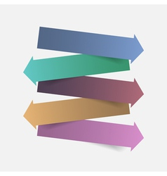 Color paper arrow infographics template design vector image