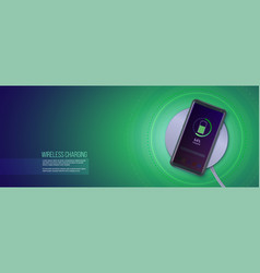 concept wireless charging technology top view vector image
