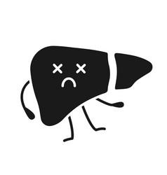 dead liver emoji glyph icon vector image