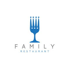 design template abstract family restaurant vector image