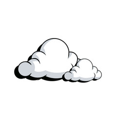 Drawing fluffy cloud shaped bubble vector