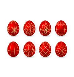 Easter egg on white background red and white egg vector
