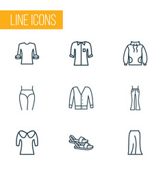 fashionable icons line style set with low bias vector image