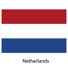 Flag of the country netherlands vector image