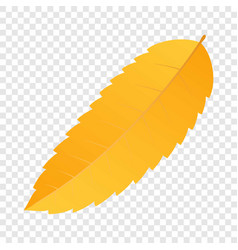 forest yellow leaf icon flat style vector image