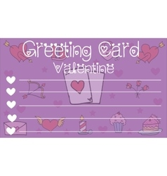 Greeting card valentine style collection stock vector