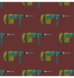 Hammer drill seamless pattern vector
