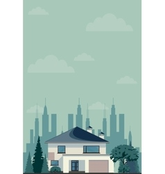 House in spring or summer season vector image
