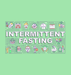 Intermittent fasting word concepts banner vector