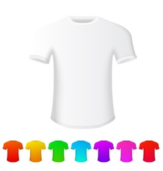isolated t-shirt on white background with set vector image