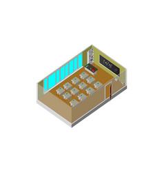 isometric school class school equipment vector image