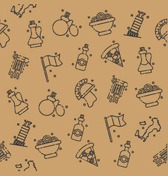 Italy icons design pattern vector