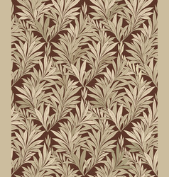 Leaves pattern leaf seamless backgound floral vector