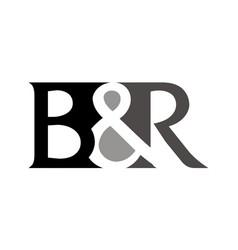 Letter b r vector
