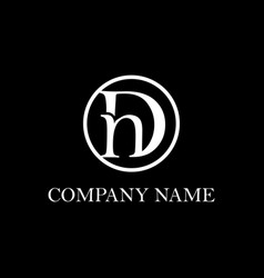 Letter dn logo design inspiration clean vector