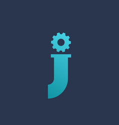 letter j technology logo icon design template vector image
