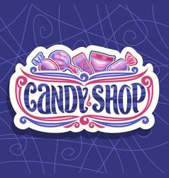 Logo for candy shop vector
