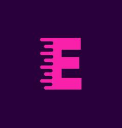 logo letter e speed vector image