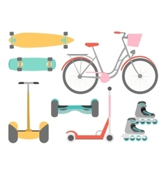Means of transport icons set vector