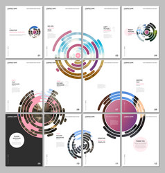 minimal brochure templates with pink colorful vector image