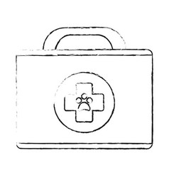 monochrome blurred silhouette of cartoon medical vector image