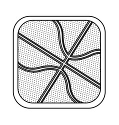 Monochrome rounded square with background of vector