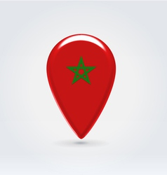 Mooroccan icon point for map vector image