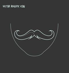 Moustache icon line element vector