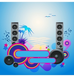 Night Disco Dance Tropical Music Flyer vector image