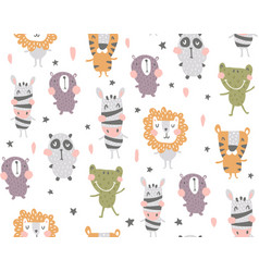 Nursery body animals vector