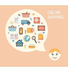 Online shopping innovation idea vector image