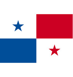 panama national flag icon vector image