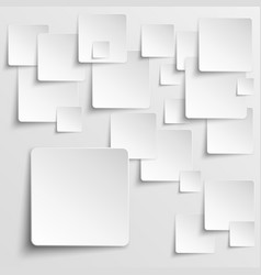 Paper squares abstract background vector