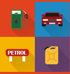 petrol station modern concept design flat vector image