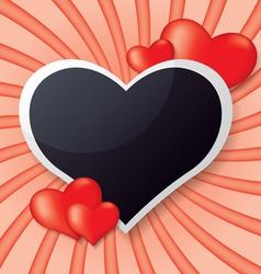 photo frame whit heart vector image