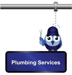 Plumbing Services Sign vector image vector image