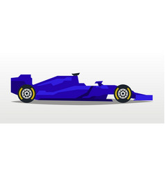 purple racing bolid sports car quick transport vector image