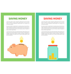 saving money banner colorful vector image
