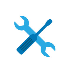 screwdriver and wrench flat icon modern flat vector image