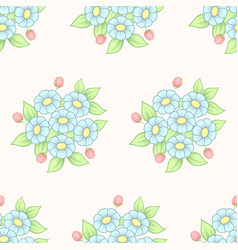 seamless daisy pastel background vector image