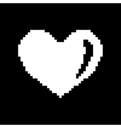 Sign pixel heart white 507 vector image